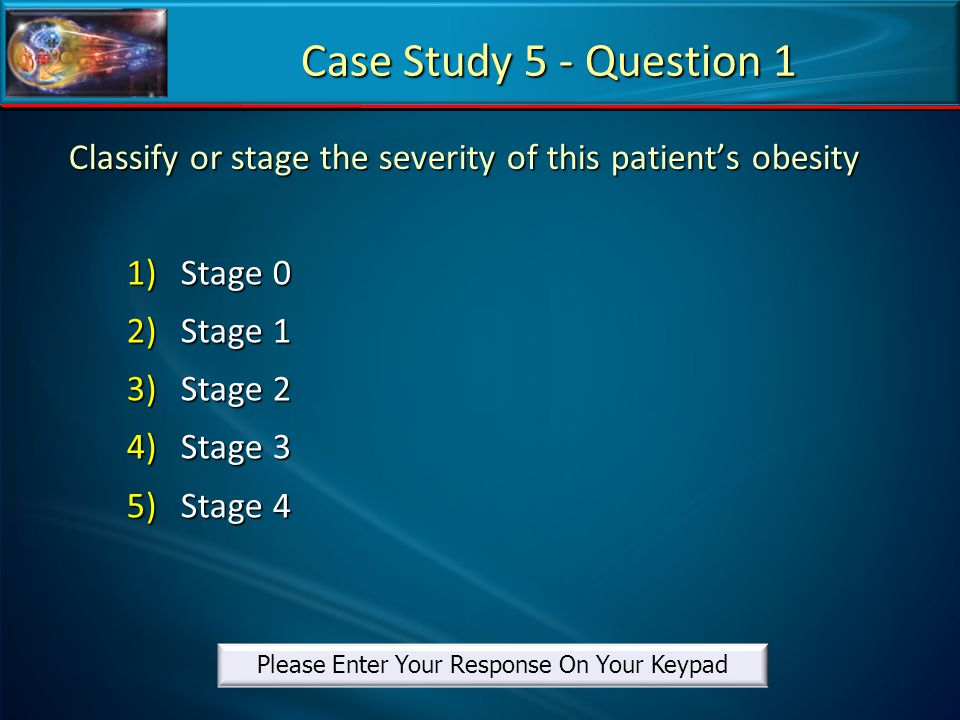 Classify or stage the severity of this patient's obesity