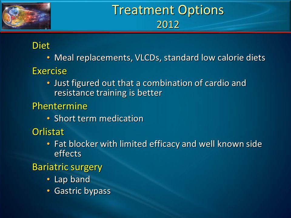 Treatment Options 2012 Diet Exercise Phentermine Orlistat