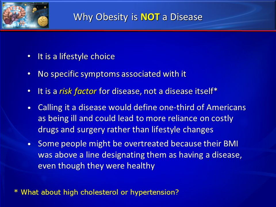 Why Obesity is NOT a Disease