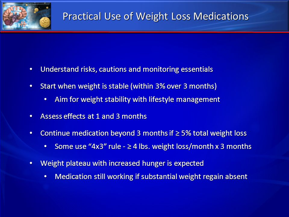 Practical Use of Weight Loss Medications