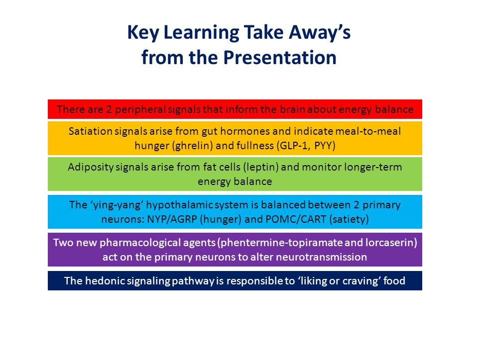 Key Learning Take Away's from the Presentation
