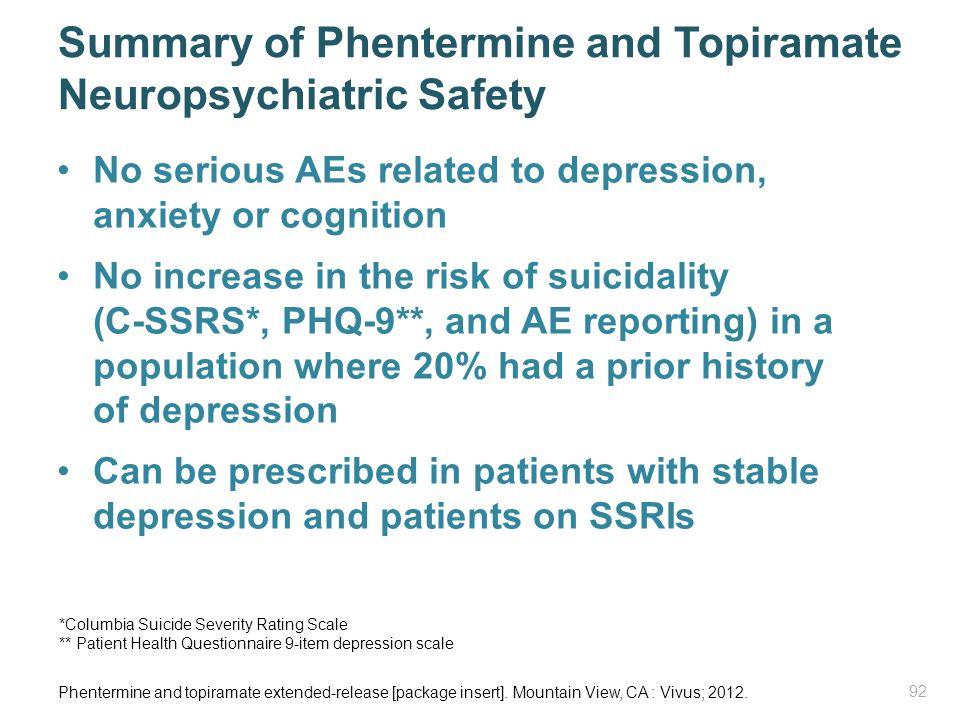 Summary of Phentermine and Topiramate Neuropsychiatric Safety