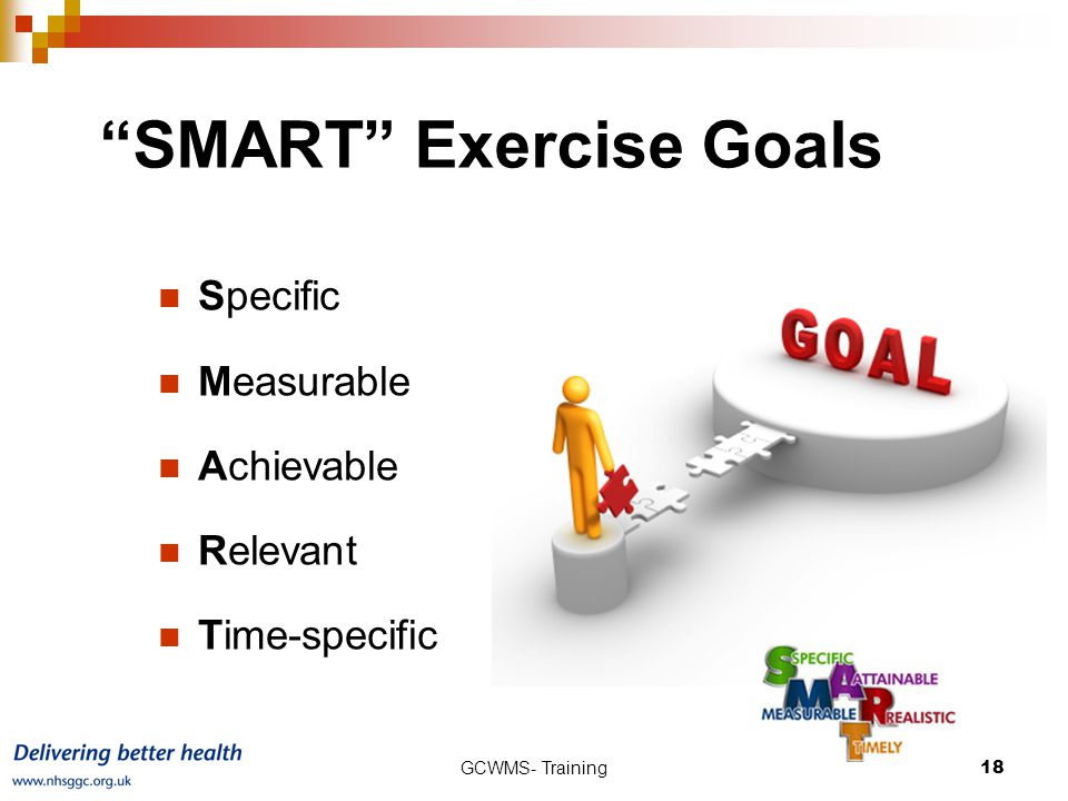 SMART Exercise Goals