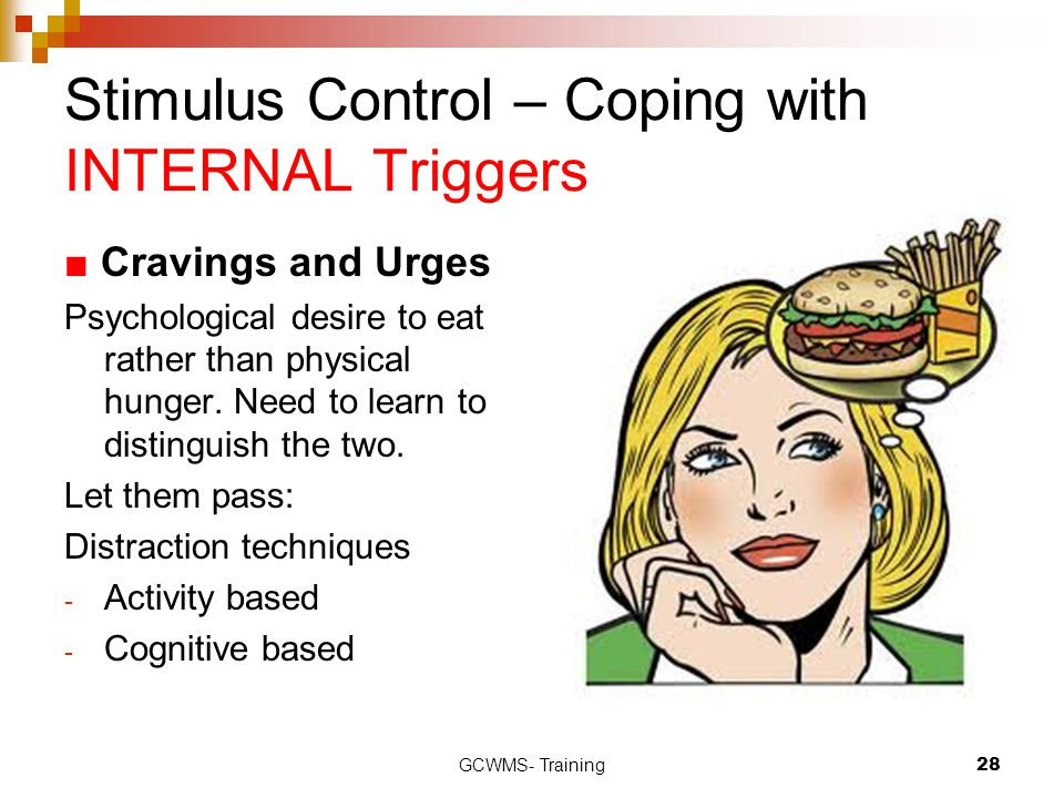 Stimulus Control – Coping with INTERNAL Triggers
