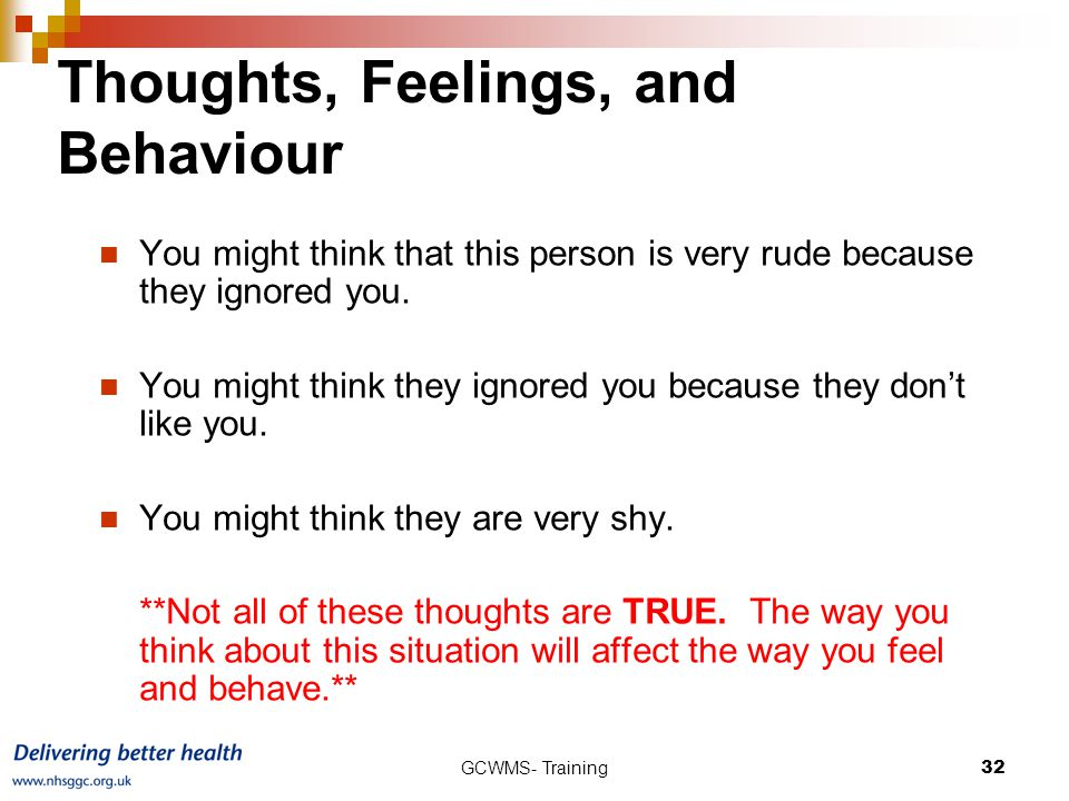 Thoughts, Feelings, and Behaviour