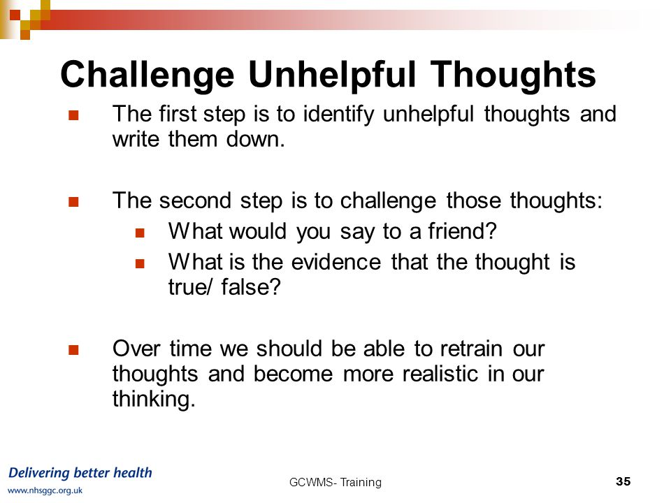Challenge Unhelpful Thoughts