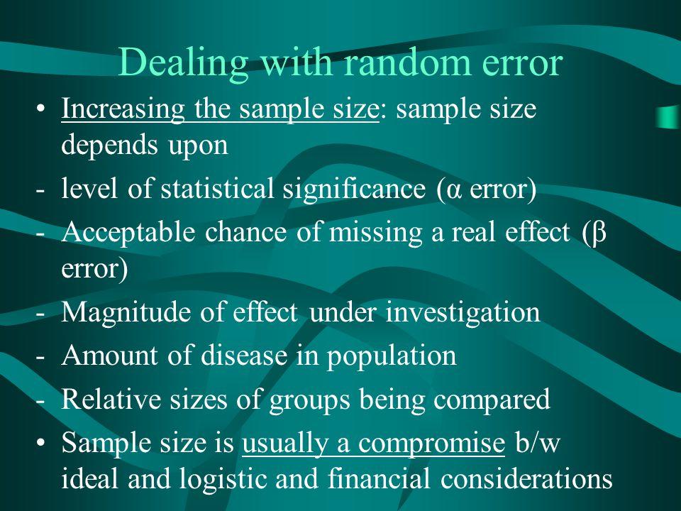 Dealing with random error