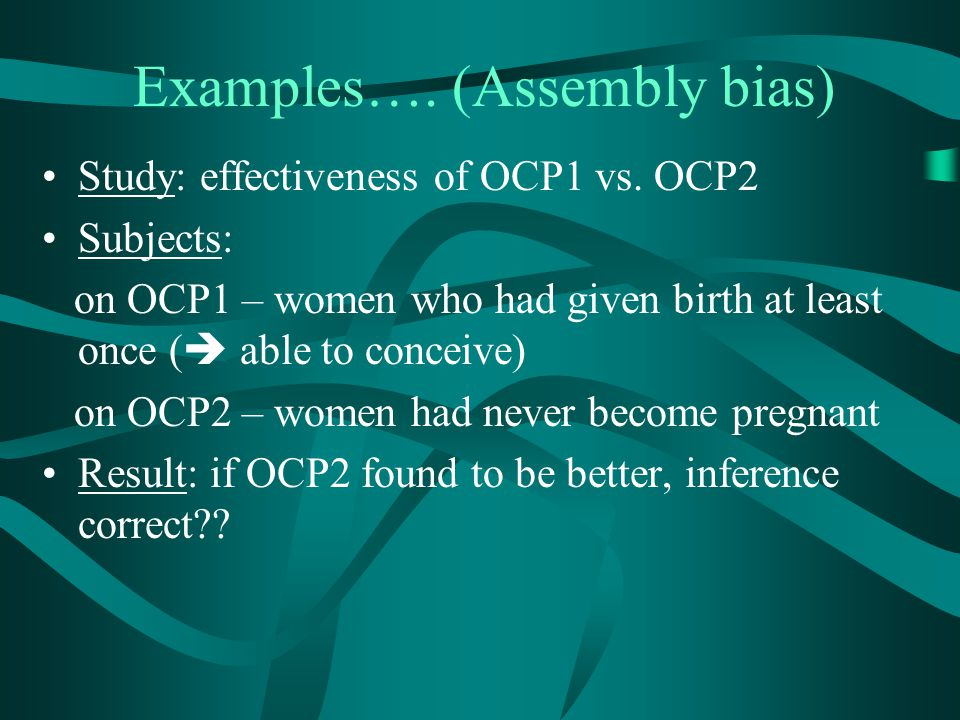 Examples…. (Assembly bias)