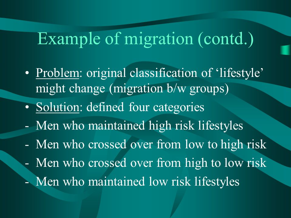 Example of migration (contd.)