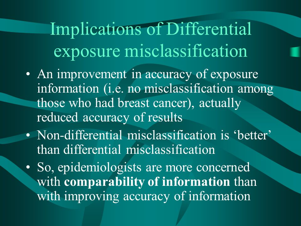 Implications of Differential exposure misclassification