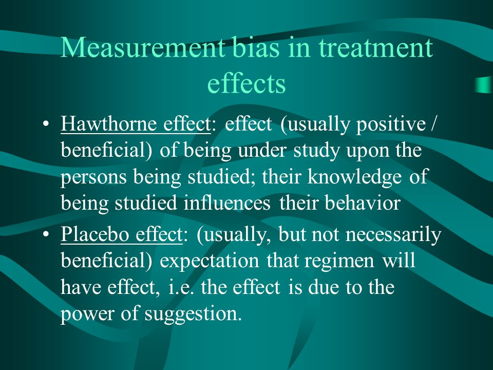 Measurement bias in treatment effects