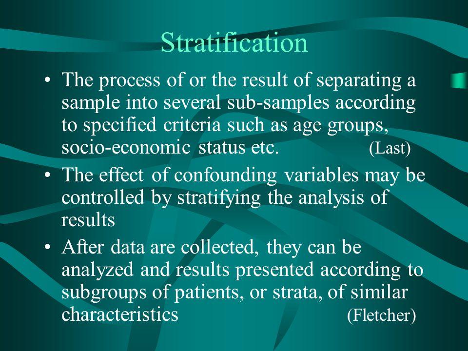 Stratification