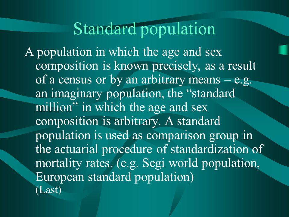Standard population