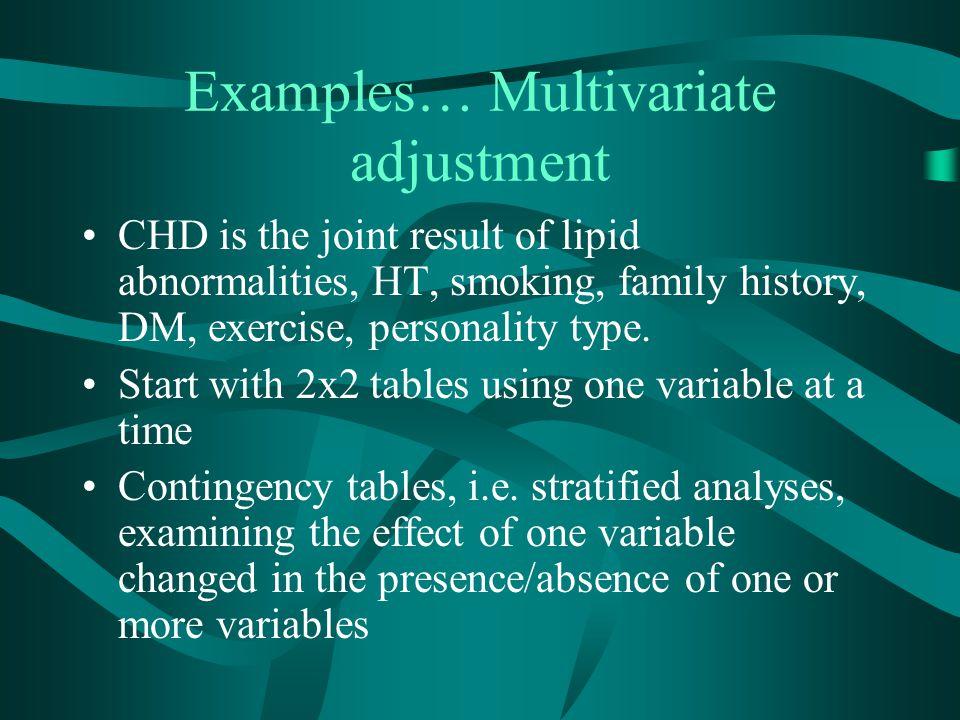 Examples… Multivariate adjustment