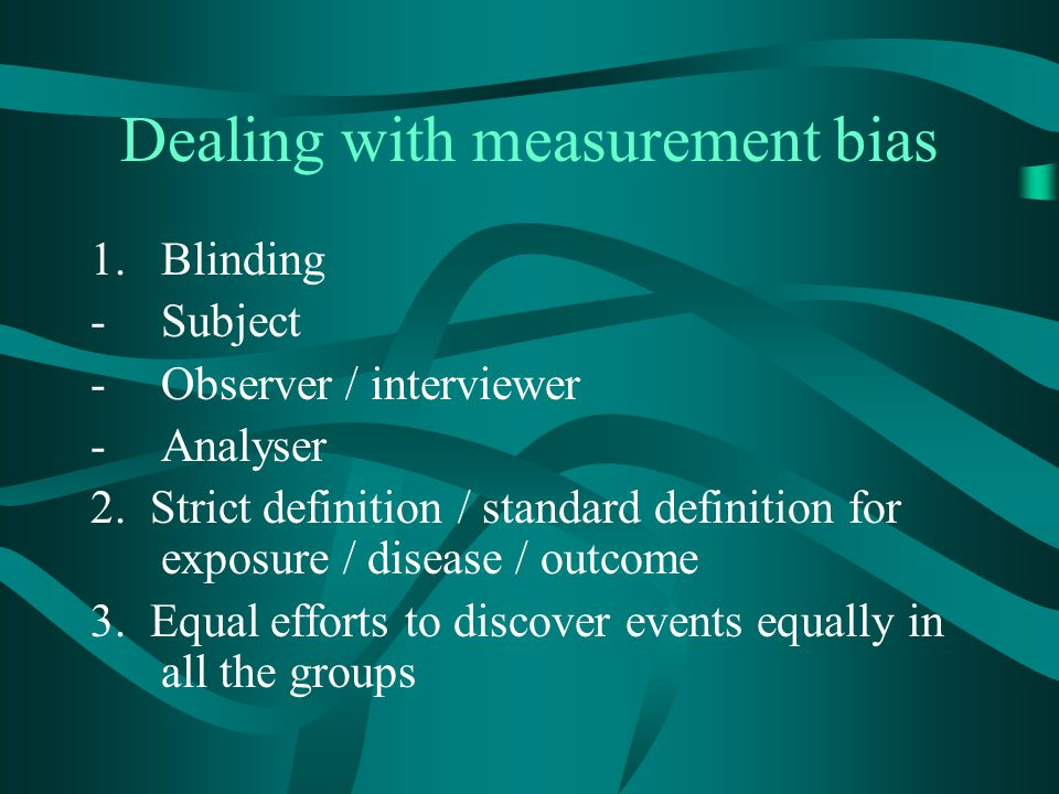Dealing with measurement bias