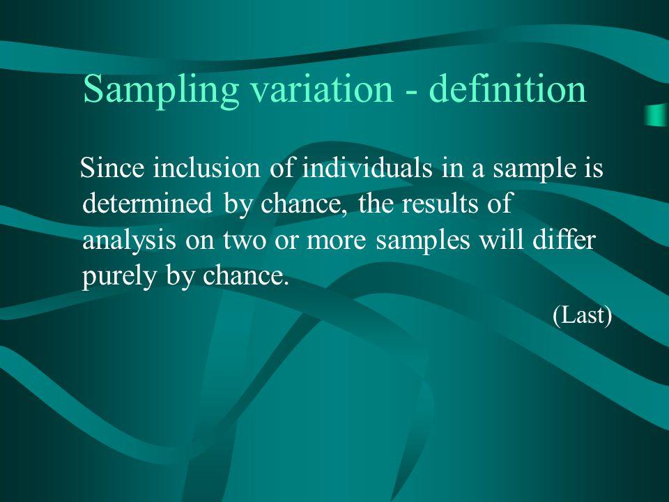 Sampling variation - definition