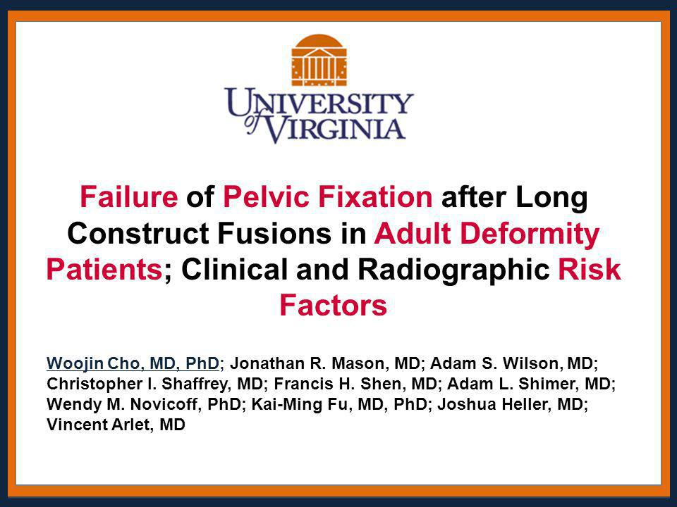 Failure of Pelvic Fixation after Long Construct Fusions in Adult Deformity Patients; Clinical and Radiographic Risk Factors