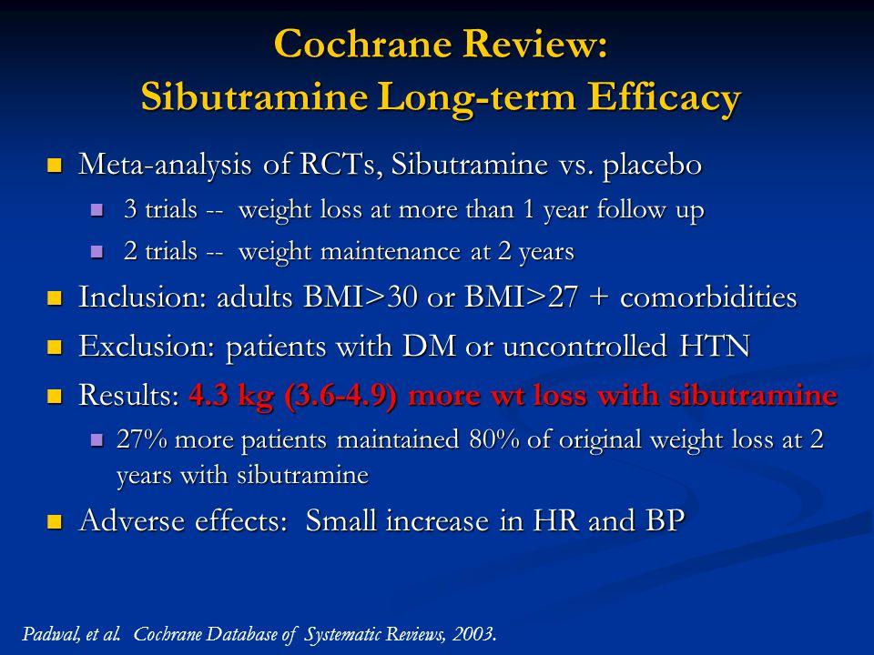 Cochrane Review: Sibutramine Long-term Efficacy