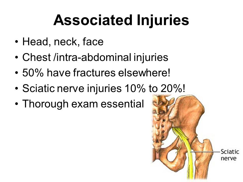 Associated Injuries Head, neck, face Chest /intra-abdominal injuries