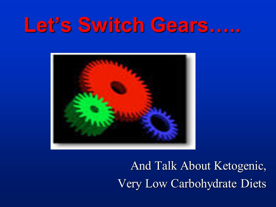 And Talk About Ketogenic, Very Low Carbohydrate Diets