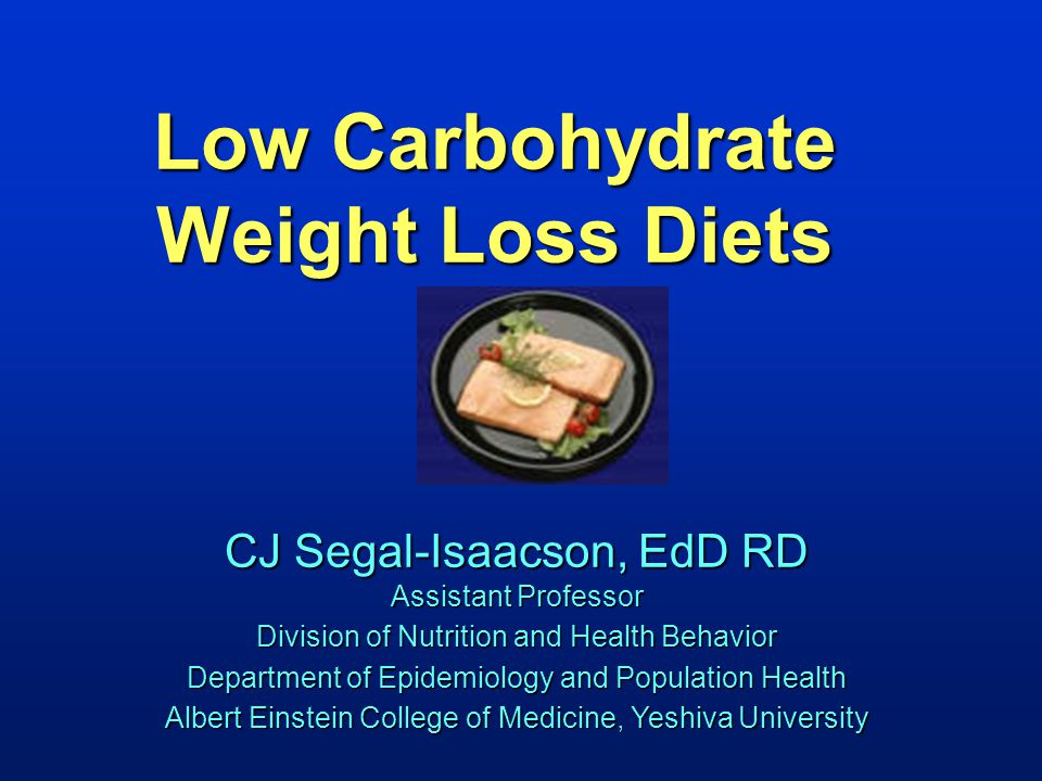 Low Carbohydrate Weight Loss Diets