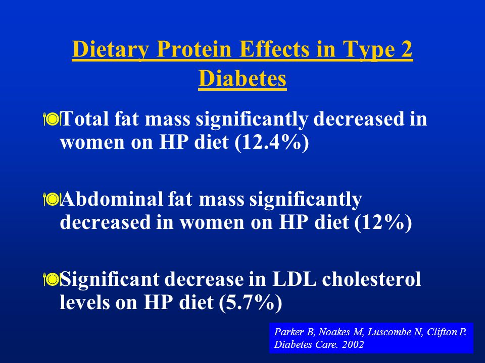 Dietary Protein Effects in Type 2 Diabetes