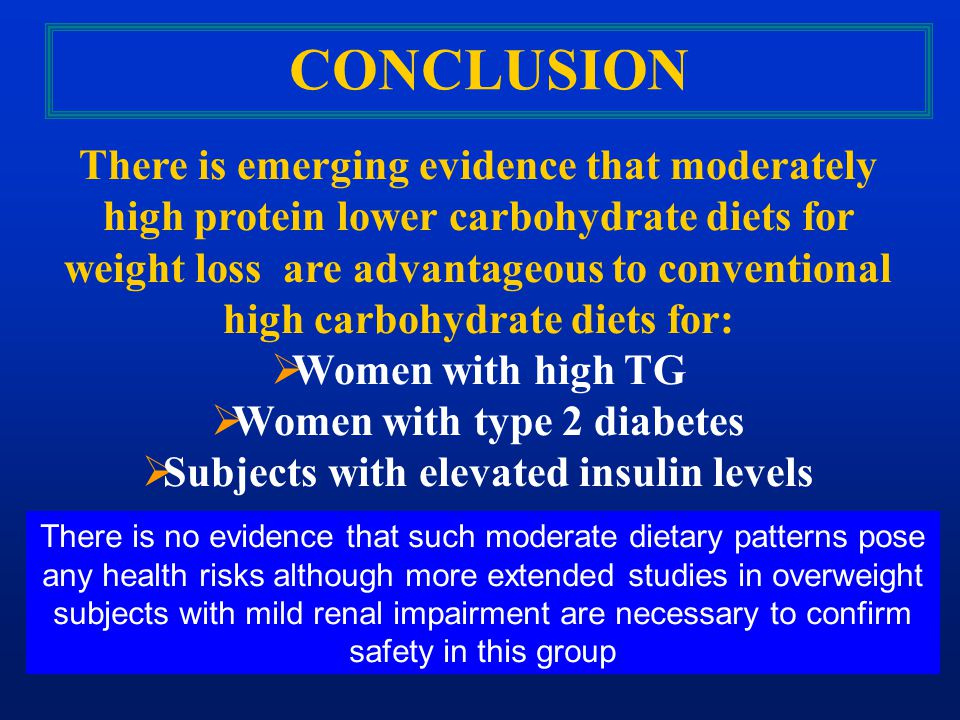 Women with type 2 diabetes Subjects with elevated insulin levels
