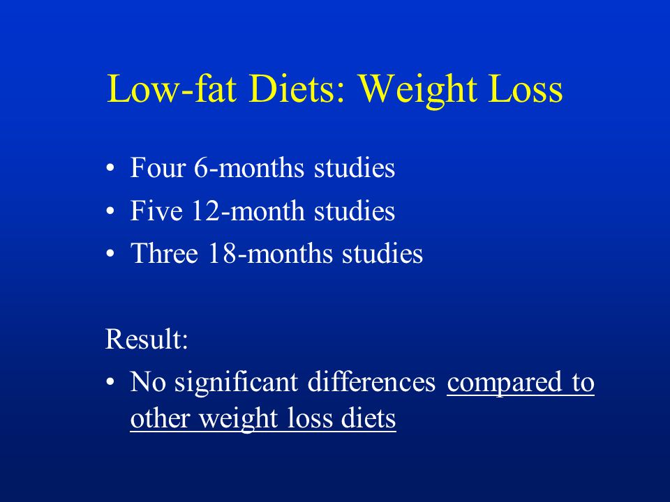 Low-fat Diets: Weight Loss