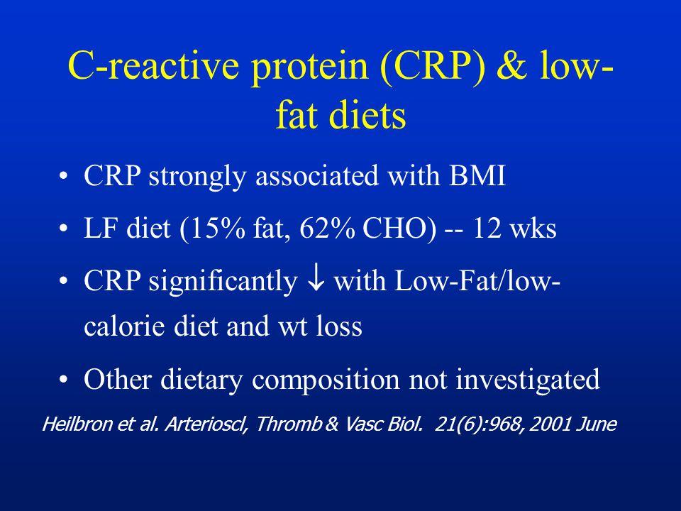 C-reactive protein (CRP) & low-fat diets