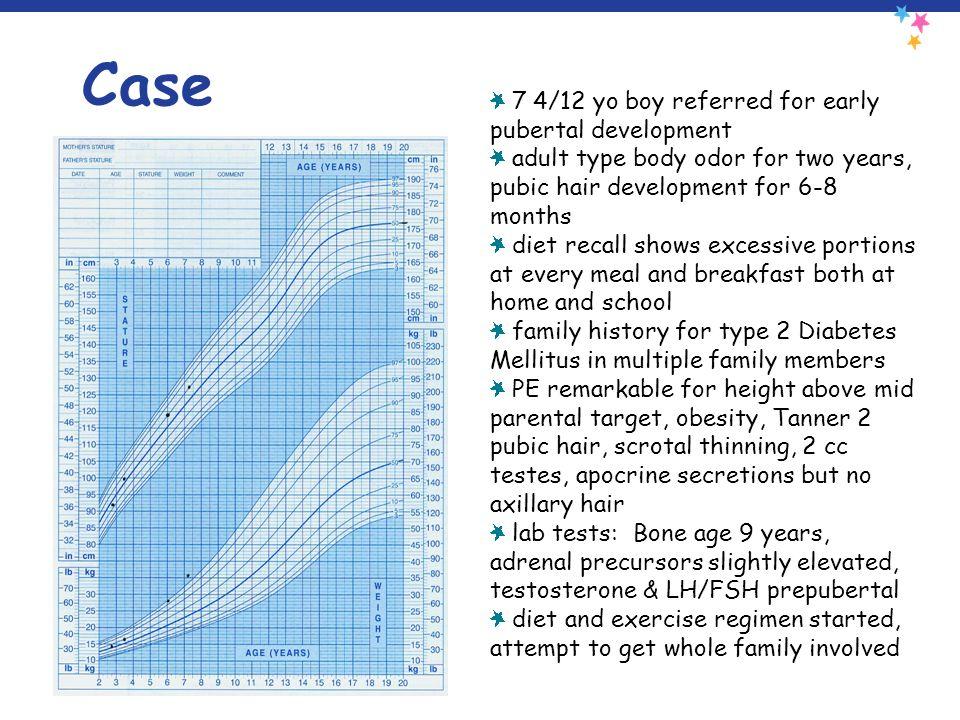 Case 7 4/12 yo boy referred for early pubertal development
