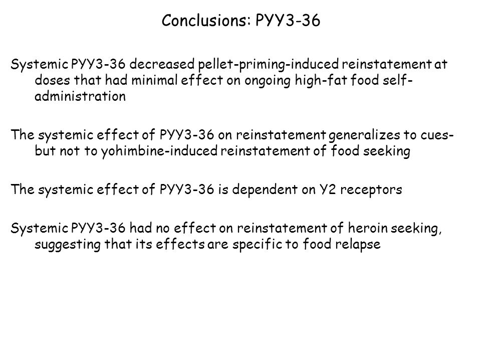 Conclusions: PYY3-36