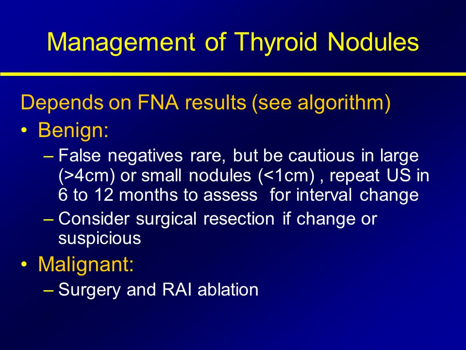 Management of Thyroid Nodules