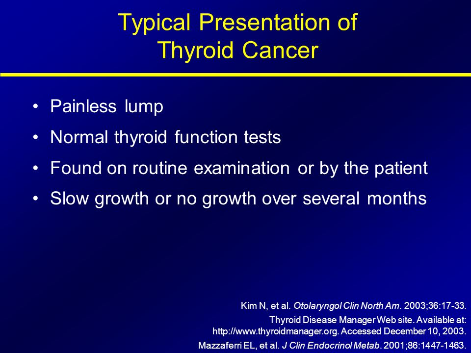 Typical Presentation of Thyroid Cancer