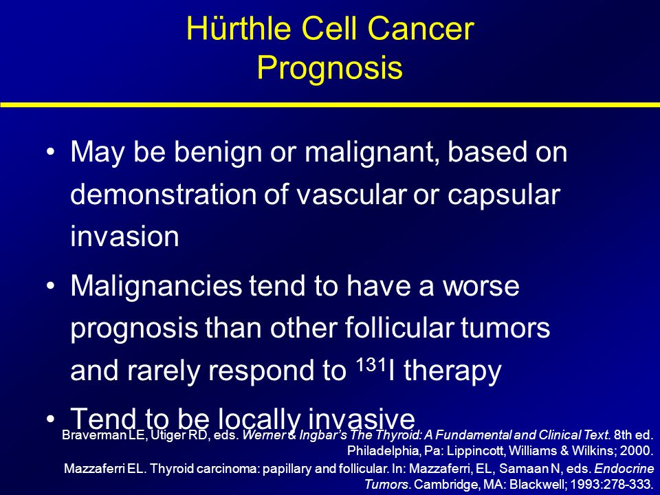 Hürthle Cell Cancer Prognosis