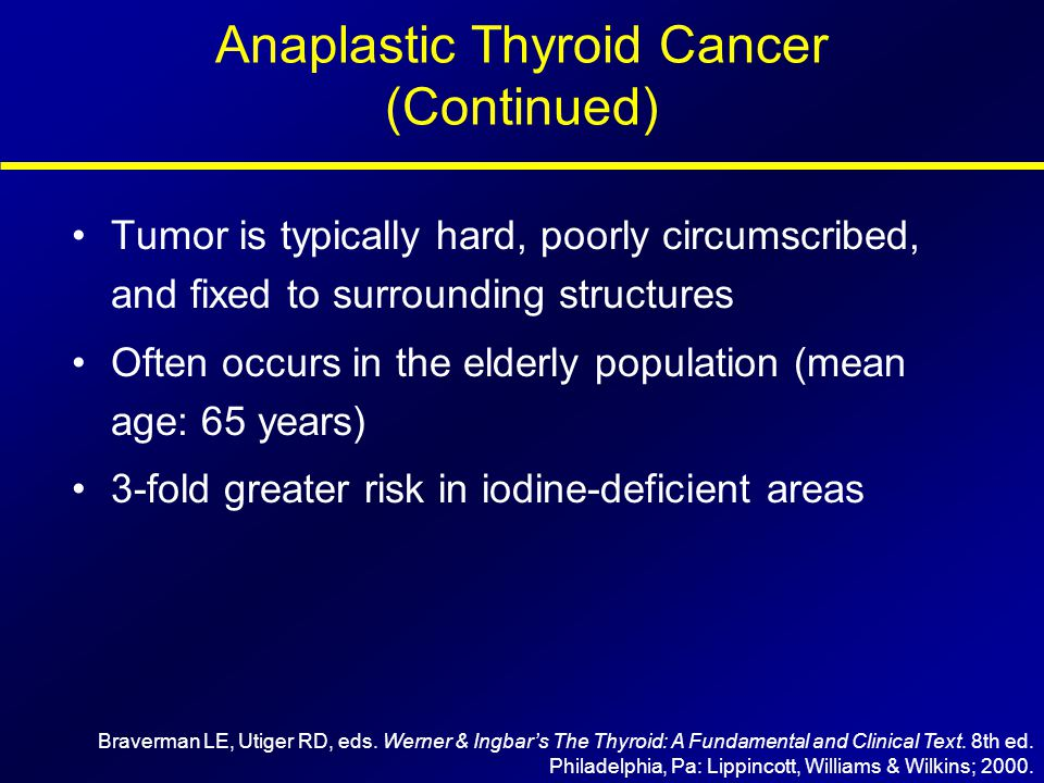Anaplastic Thyroid Cancer (Continued)