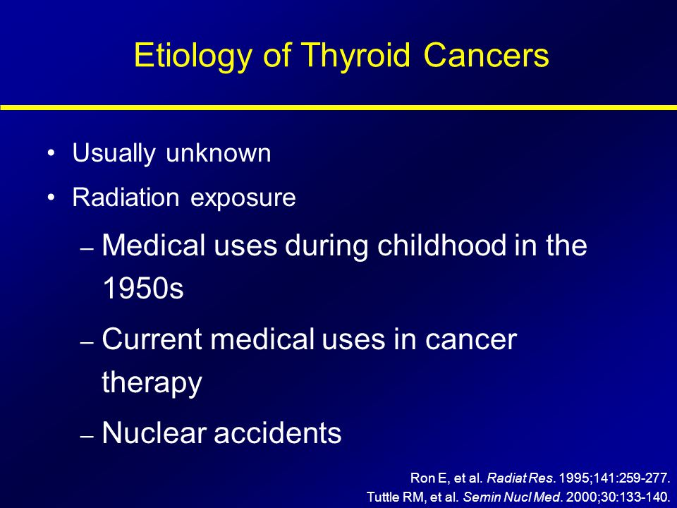 Etiology of Thyroid Cancers