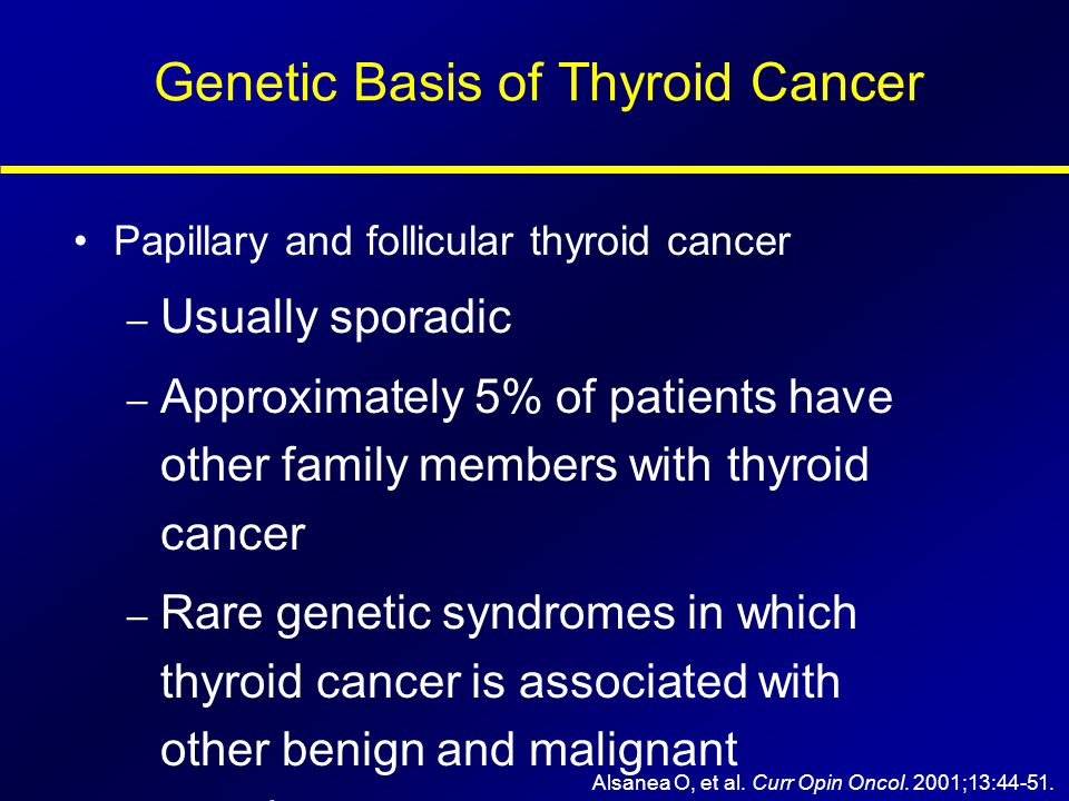 Genetic Basis of Thyroid Cancer
