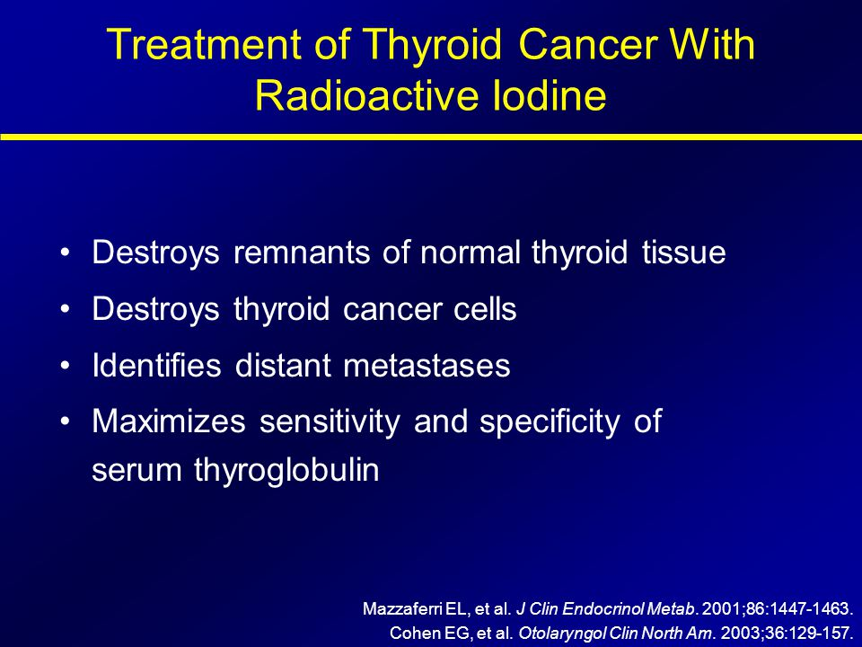 Treatment of Thyroid Cancer With Radioactive Iodine