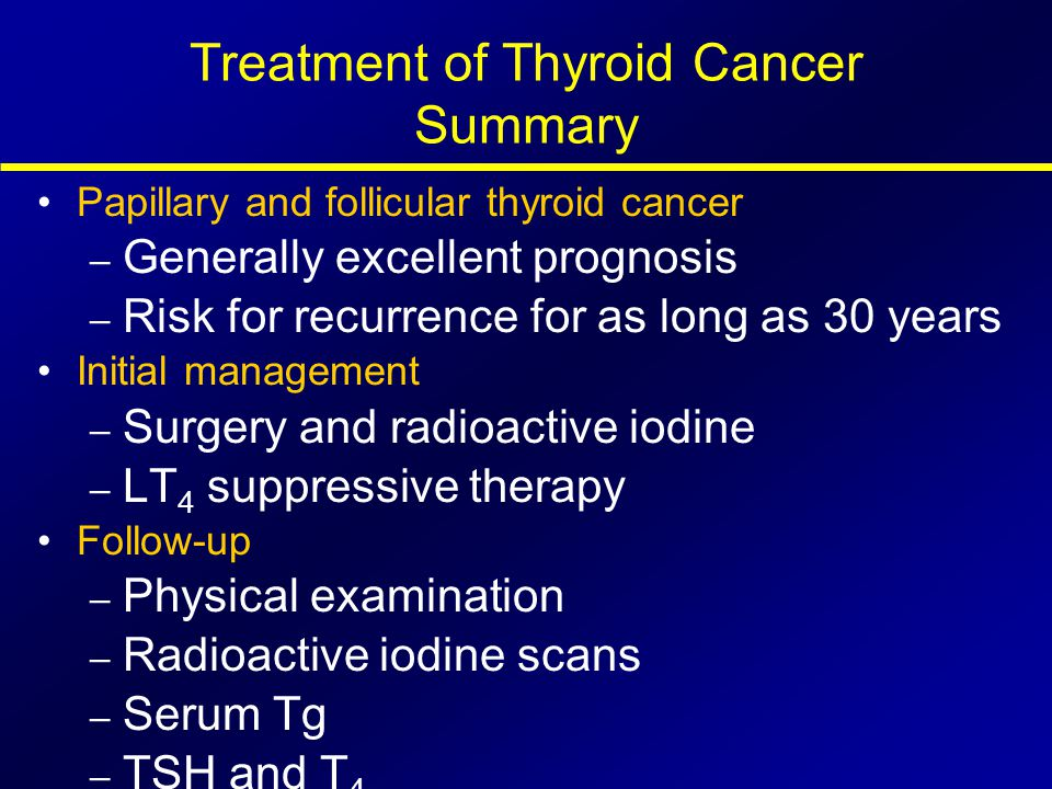 Treatment of Thyroid Cancer Summary