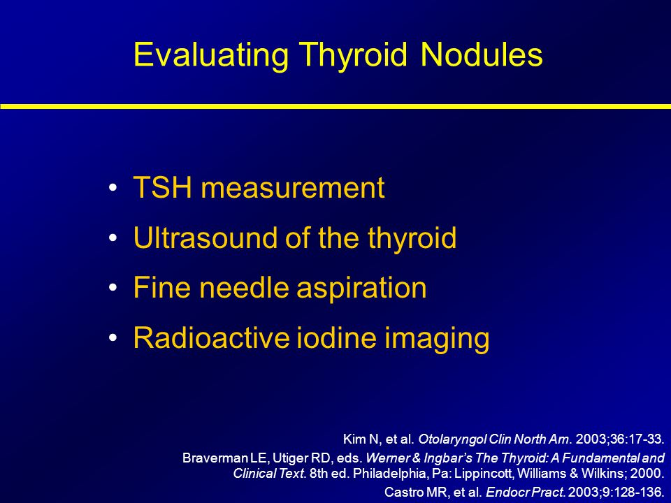 Evaluating Thyroid Nodules