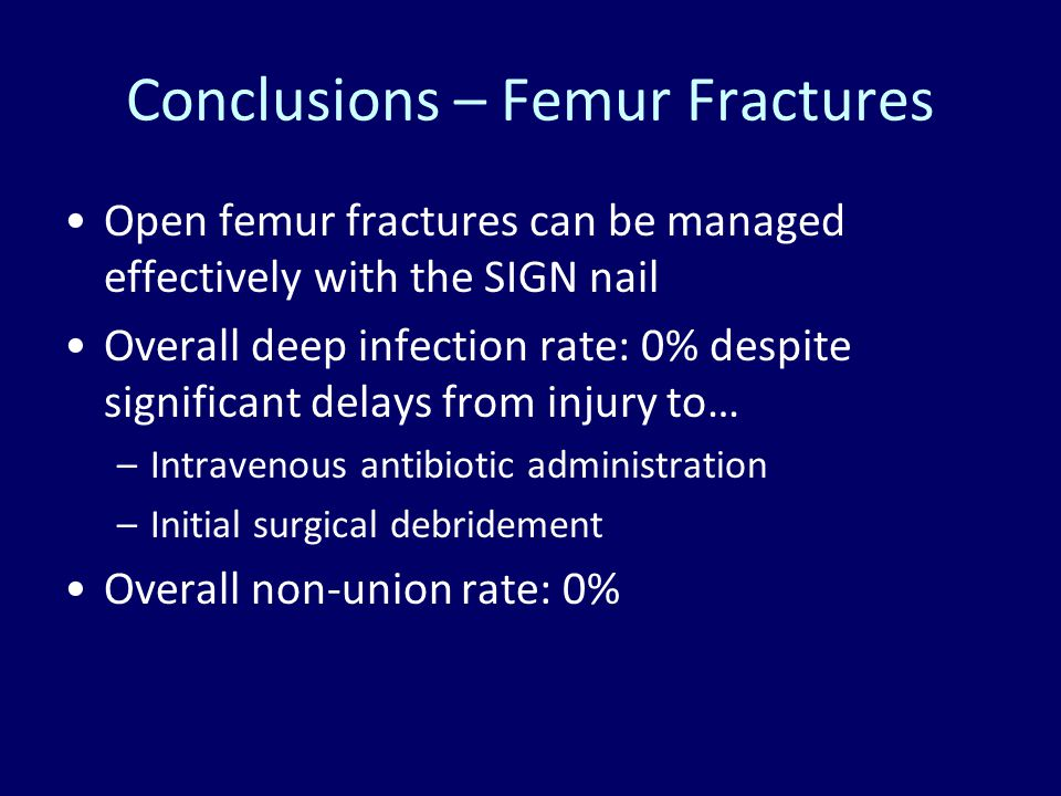 Conclusions – Femur Fractures