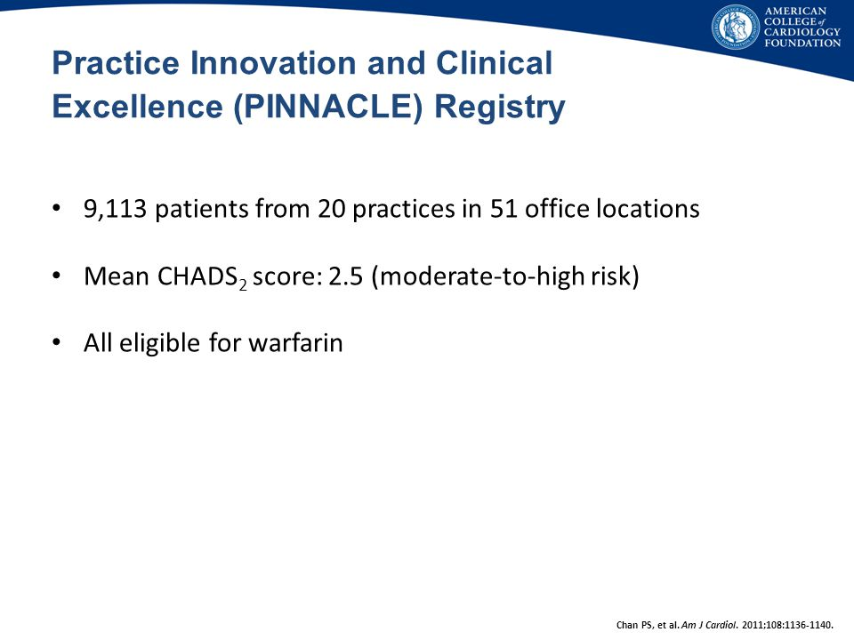 Practice Innovation and Clinical Excellence (PINNACLE) Registry