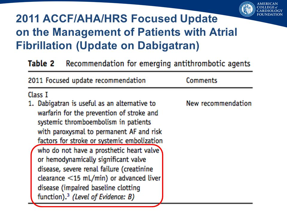 2011 ACCF/AHA/HRS Focused Update