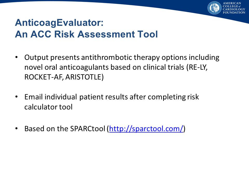 AnticoagEvaluator: An ACC Risk Assessment Tool