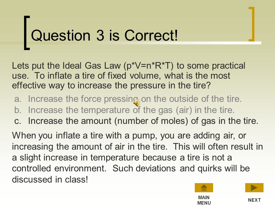 Question 3 is Correct!