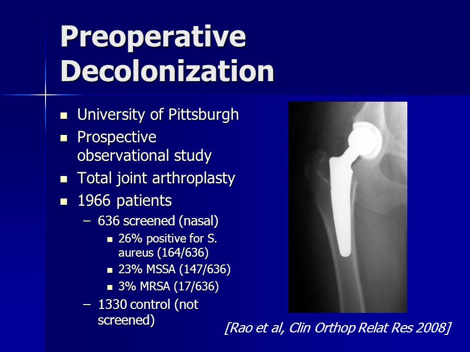 Preoperative Decolonization
