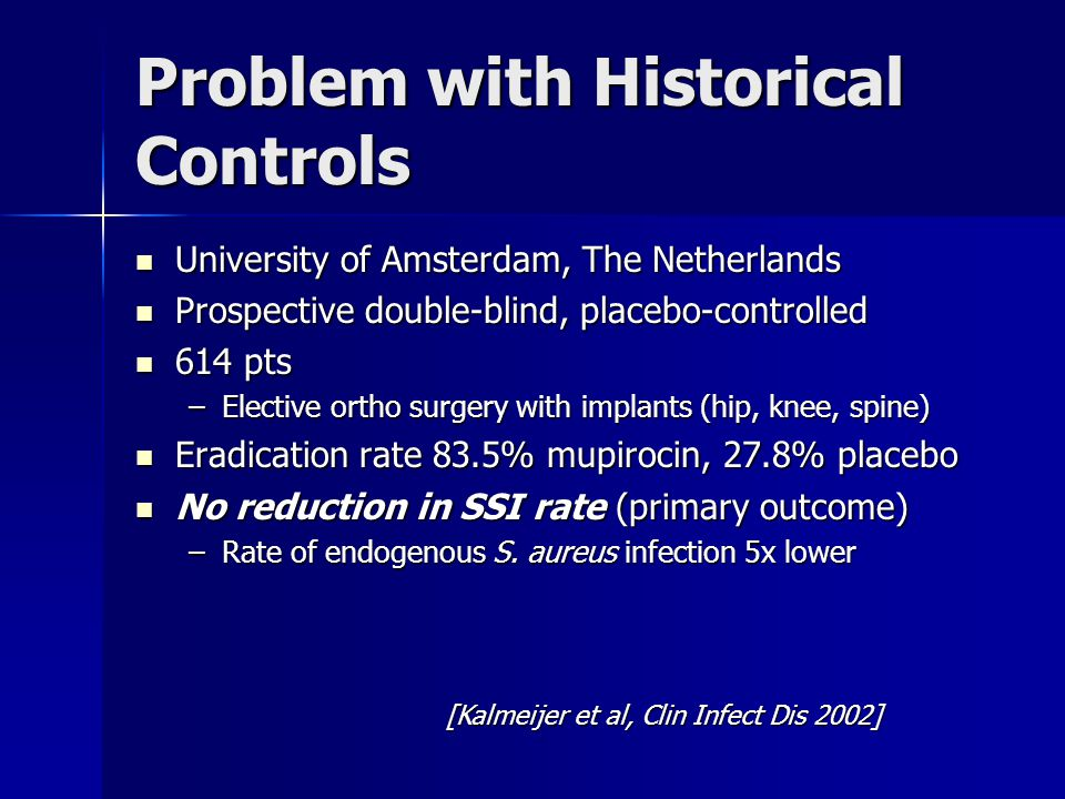 Problem with Historical Controls