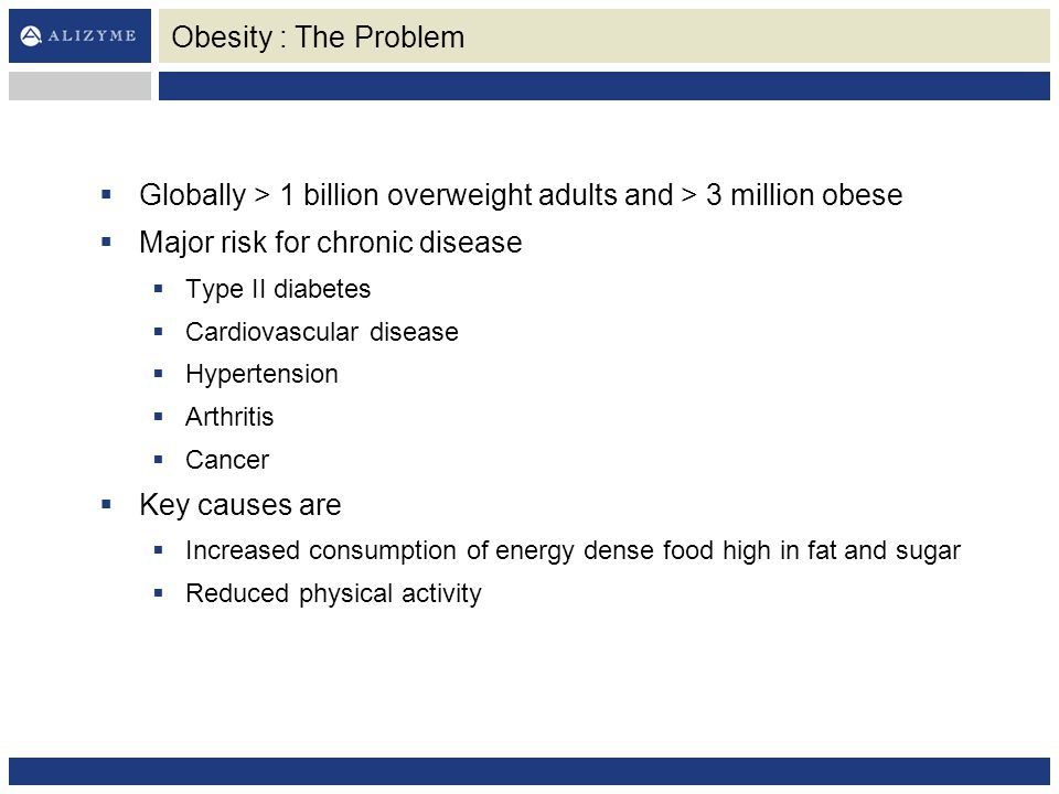 Globally > 1 billion overweight adults and > 3 million obese