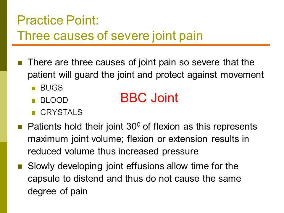 Practice Point: Three causes of severe joint pain