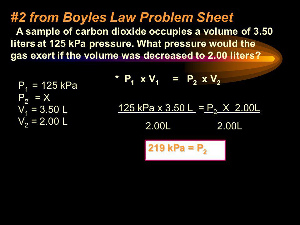 #2 from Boyles Law Problem Sheet